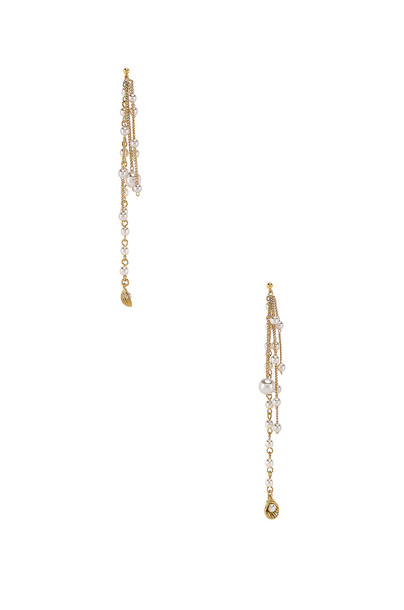 joolz by Martha Calvo Pearl Shaker Earrings in gold / metallic