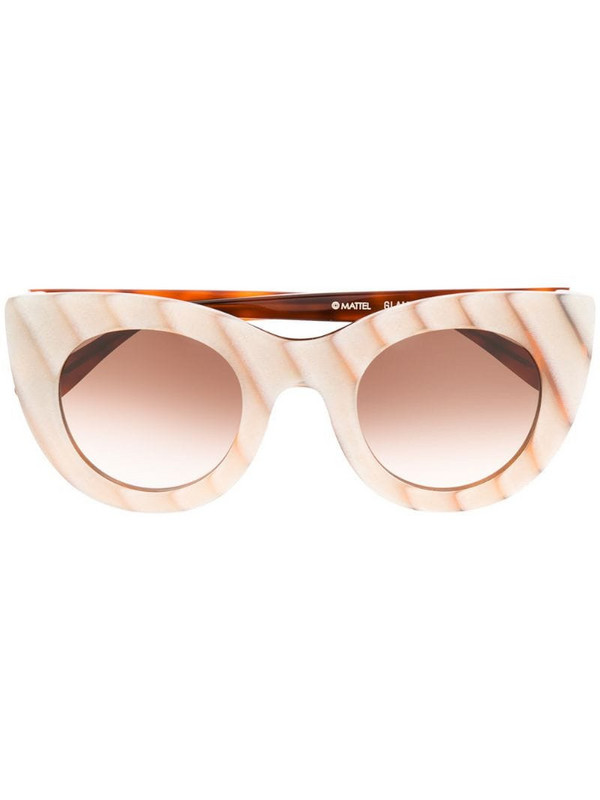 Thierry Lasry x Barbie 60th Glamy sunglasses in neutrals