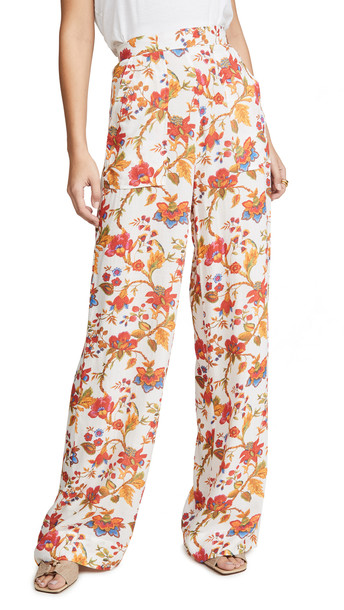 Alix of Bohemia Silk Floral Charlie Pants in multi