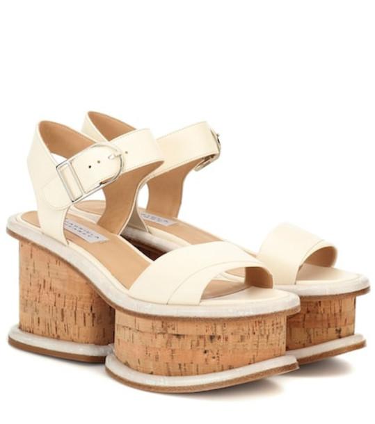 Gabriela Hearst Harrigan leather plateau sandals in white