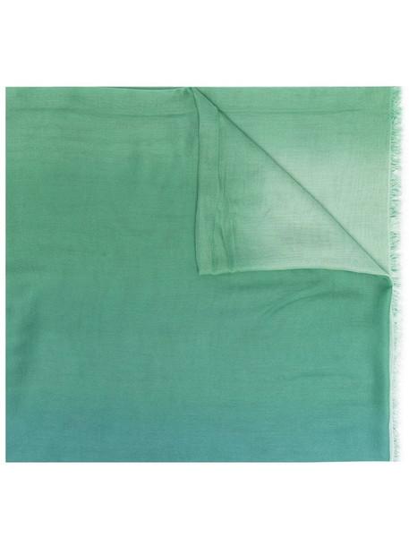 Faliero Sarti Soledad gradient-effect scarf in green