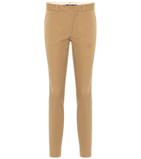Polo Ralph Lauren Mid-rise skinny cotton blend pants in beige