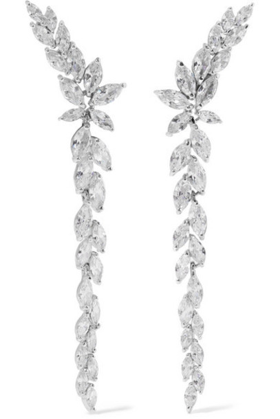 Kenneth Jay Lane - Silver-tone Cubic Zirconia Earrings