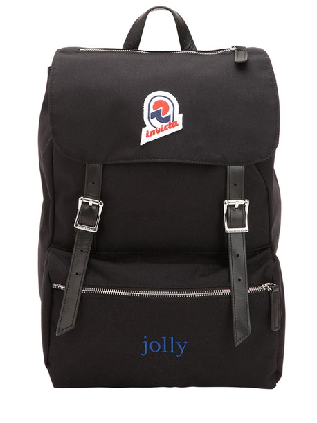 INVICTA Jolly Plain Backpack in black