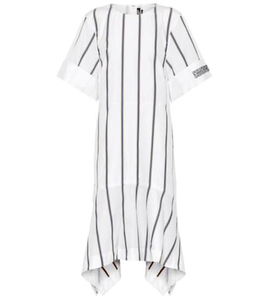 Calvin Klein 205W39NYC Striped cotton poplin midi dress in white