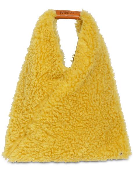 MM6 MAISON MARGIELA Japanese Medium Faux Fur Bag in yellow