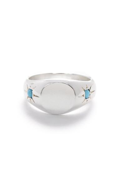 SCOSHA Sterling Silver Pinky Signet Ring