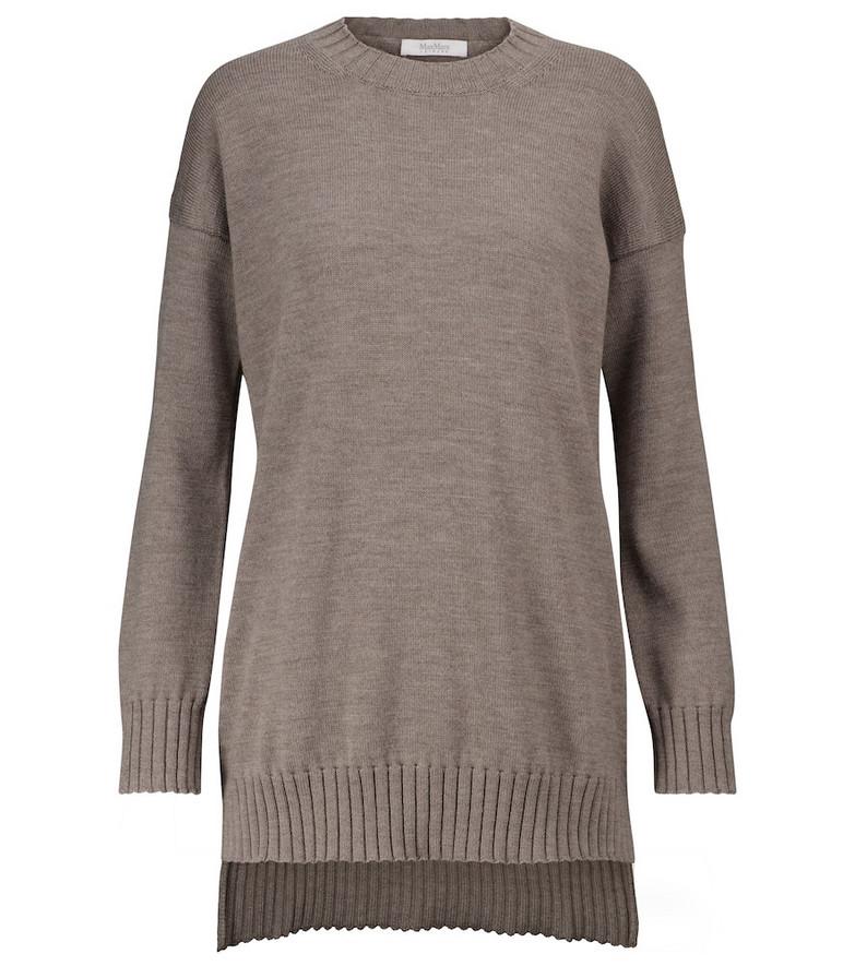Max Mara Leisure Giorno wool sweater in brown