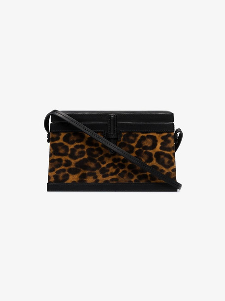 Hunting Season leopard print square trunk bag