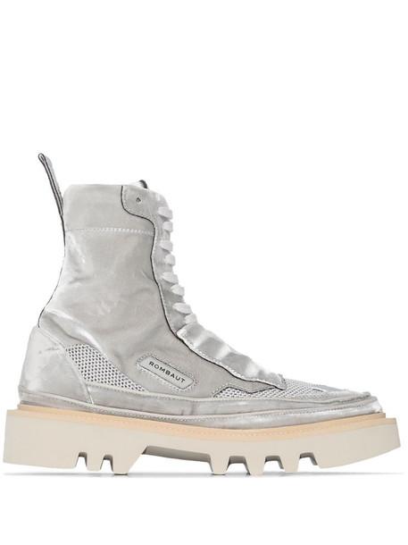Rombaut mesh panel high-top sneakers in grey