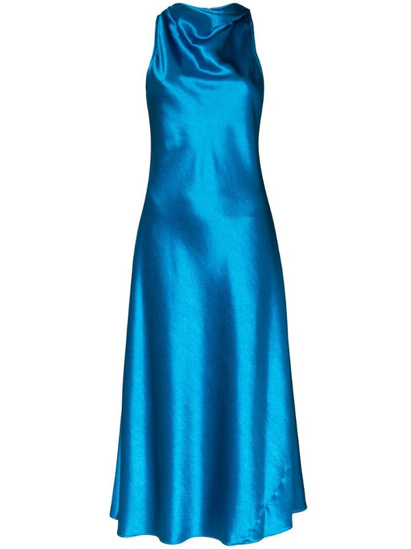 Sies Marjan Andy cowl-neck midi dress in blue