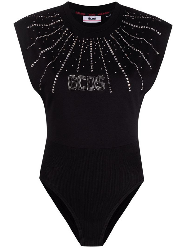 Gcds embellished logo print vest in black