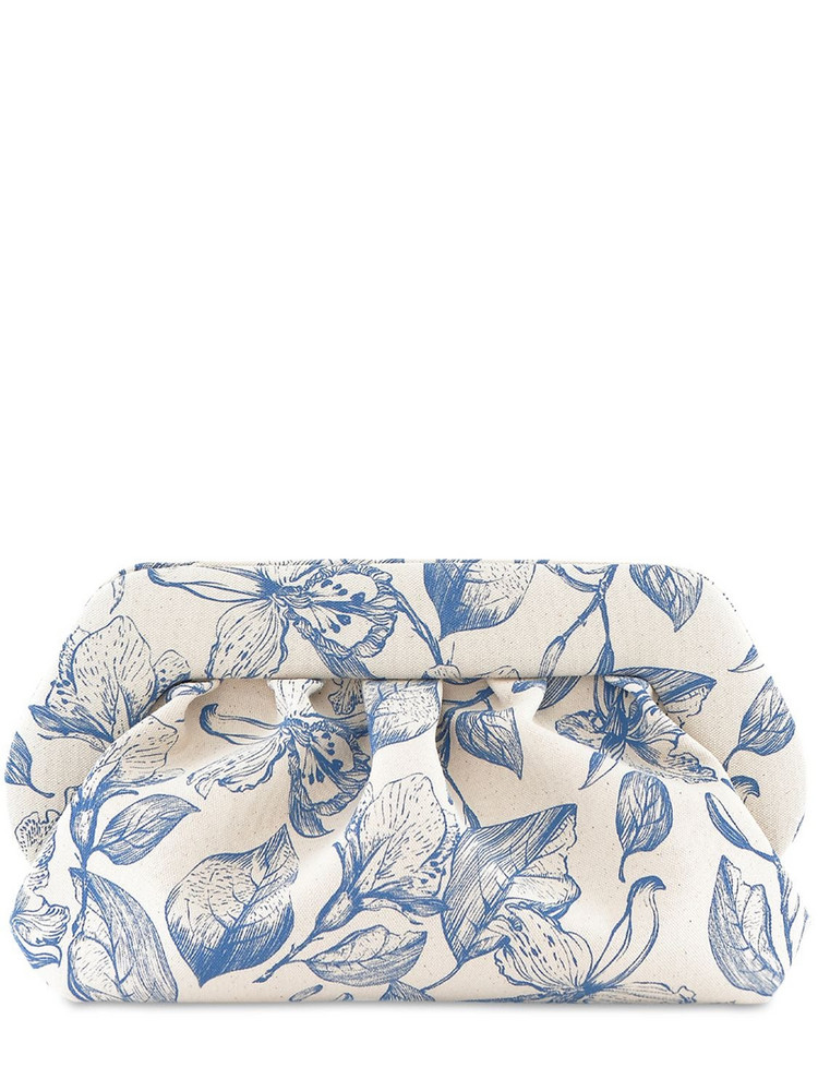 THEMOIRÈ Bios Floral Print Canvas Clutch