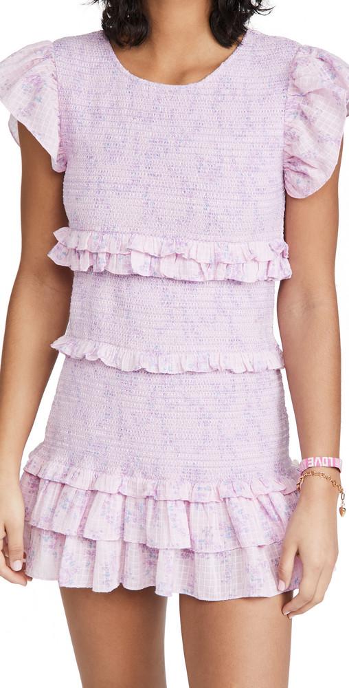 LoveShackFancy Aveline Dress in purple