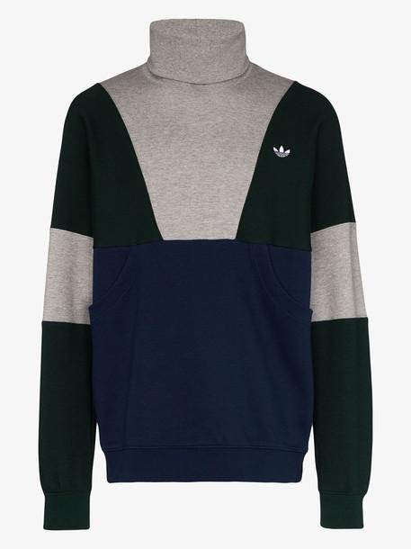 adidas colour block roll neck sweatshirt