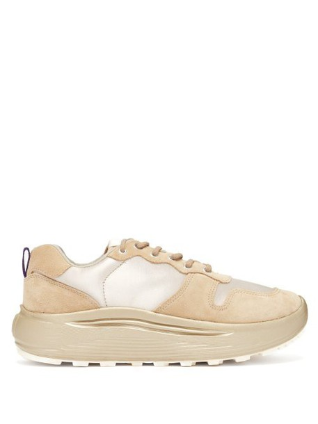 Eytys - Jet Combo Exaggerated Sole Suede Trainers - Womens - Beige