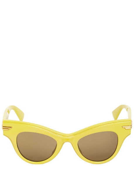 BOTTEGA VENETA Bv1004s Cat-eye Acetate Sunglasses in brown / yellow