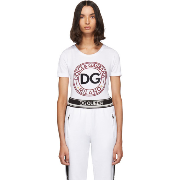 Dolce and Gabbana White DG Logo T-Shirt