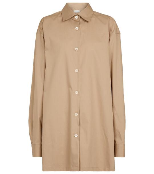 Dries Van Noten Oversized cotton shirt in beige