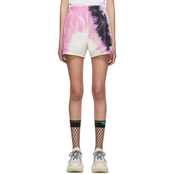 Prada SSENSE Exclusive White Silk Tie-Dye Shorts