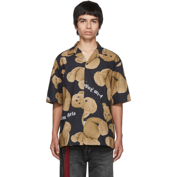 Palm Angels Black & Brown Kill The Bear Bowling Shirt