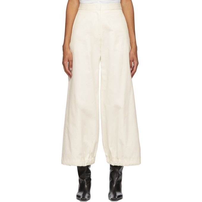 Edit Off-White Drawcord Trousers in ivory