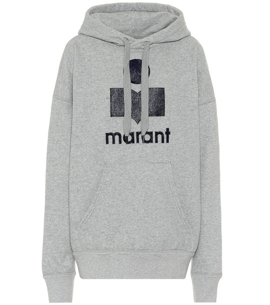 Isabel Marant, Étoile Mansel cotton-blend hoodie in grey