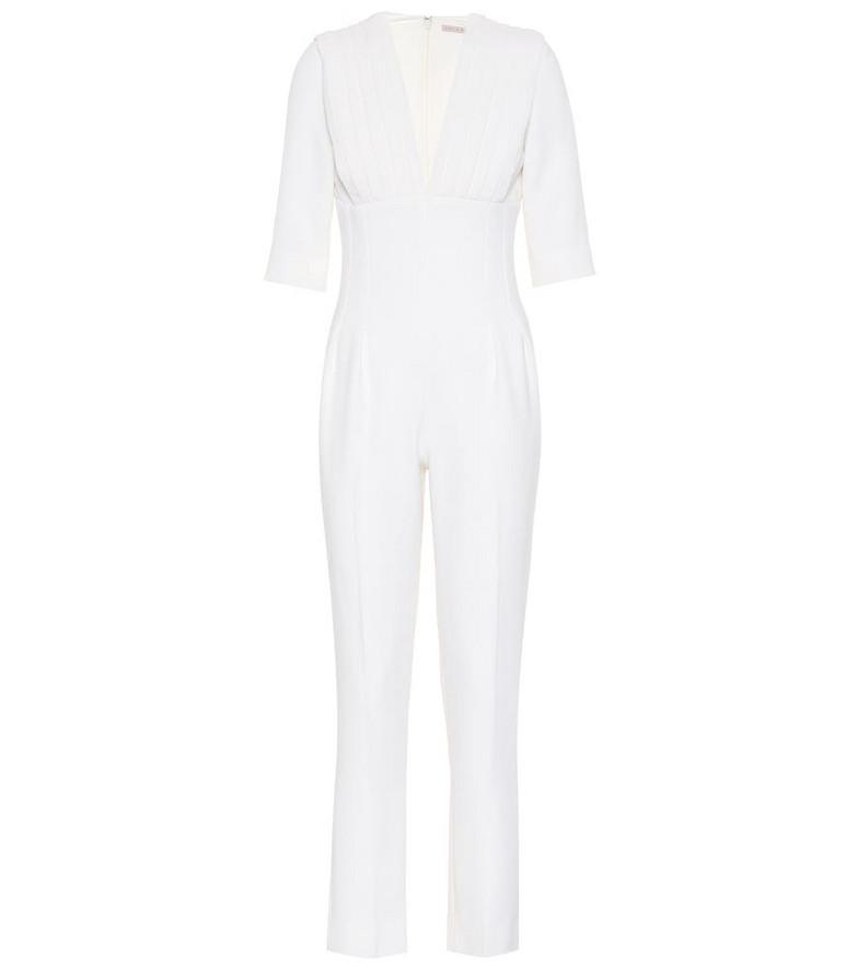 Emilia Wickstead Bella wool jumpsuit in white