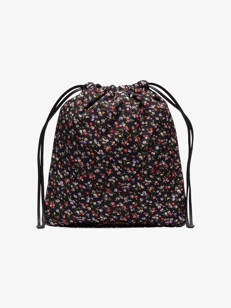 Miu Miu black Faille ditsy floral bag