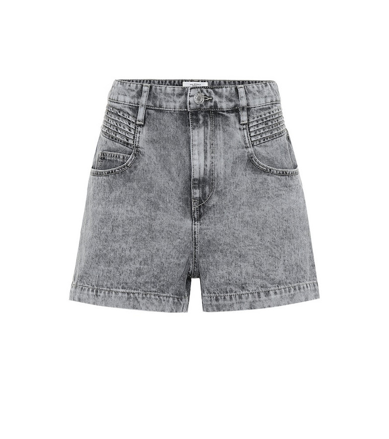 Isabel Marant, Étoile Hiana high-rise denim shorts in grey