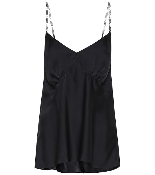 Paco Rabanne Satin camisole top in black