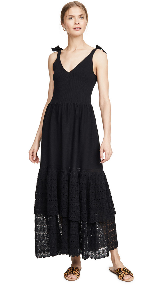 La Vie Rebecca Taylor Sleeveless Lace Dress in black