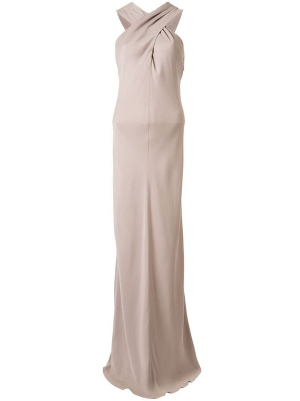 Ginger & Smart Polish knot detail gown in pink