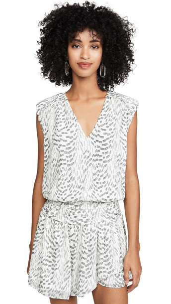 Ramy Brook Terry Dress in black / ivory