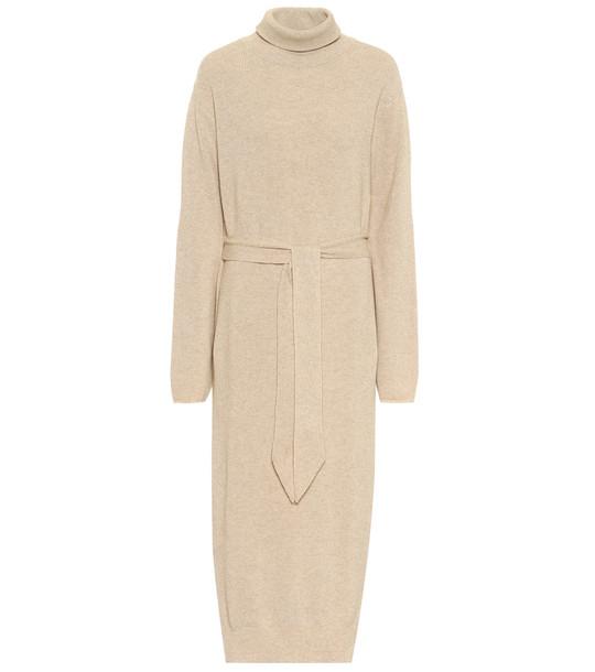 Nanushka Canaan turtleneck sweater dress in beige