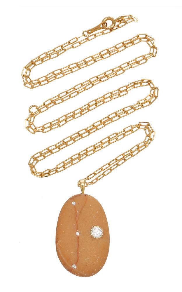 CVC Stones Dear 18K Gold, Diamond And Stone Necklace in orange