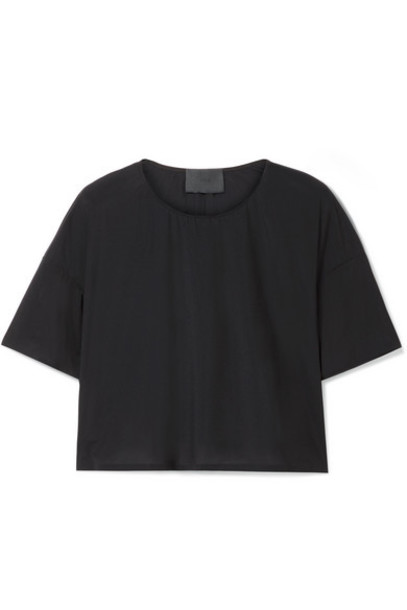 WONE - Classic Cropped Stretch-jersey T-shirt - Black