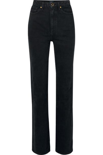Khaite - Danielle High-rise Straight-leg Jeans - Black