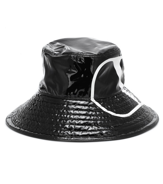 Valentino Garavani VLOGO patent bucket hat in black