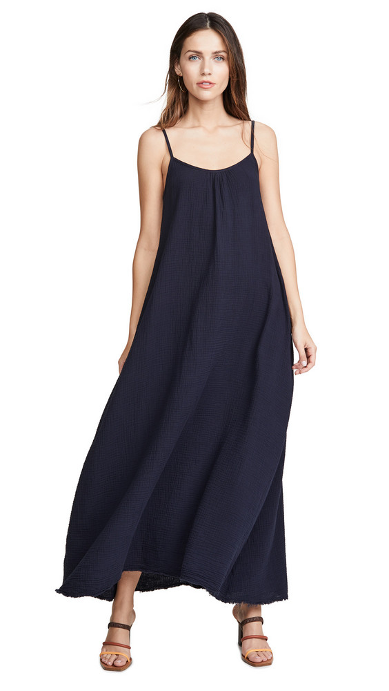 Nation LTD Lila Scoop Trapeze Slip Dress in indigo
