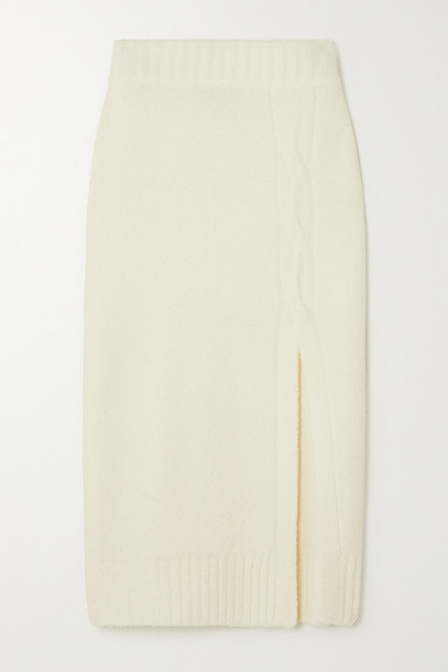 L'AGENCE - Nancy Bouclé-knit Skirt - White