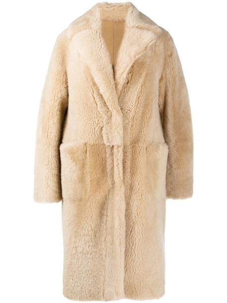 Manzoni 24 reversible single-breasted coat in neutrals