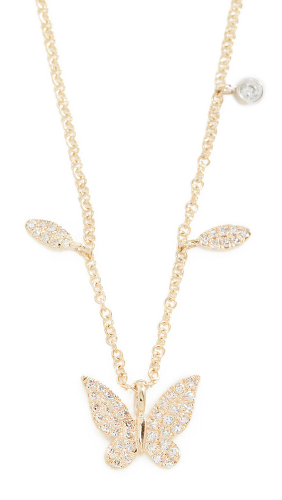 Meira T 14k Diamond Butterfly Necklace in gold / yellow