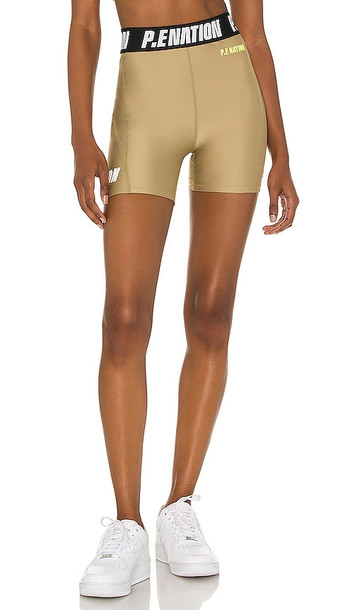 P.E Nation Agility Short in Olive in gray