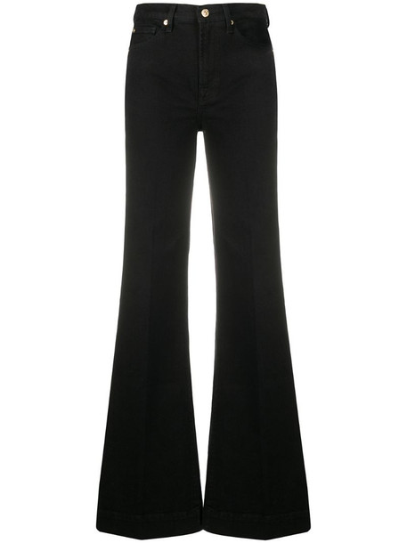 7 For All Mankind mid-rise flared jeans in black