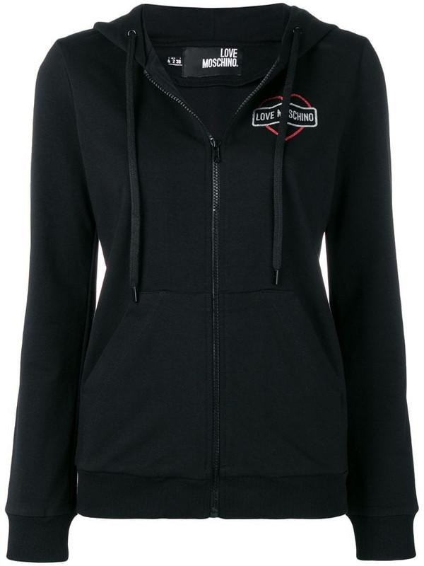 Love Moschino zipped sweatshirt in black