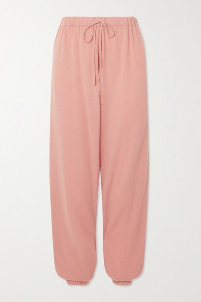 Madeleine Thompson - Morgins Cashmere Track Pants - Pink