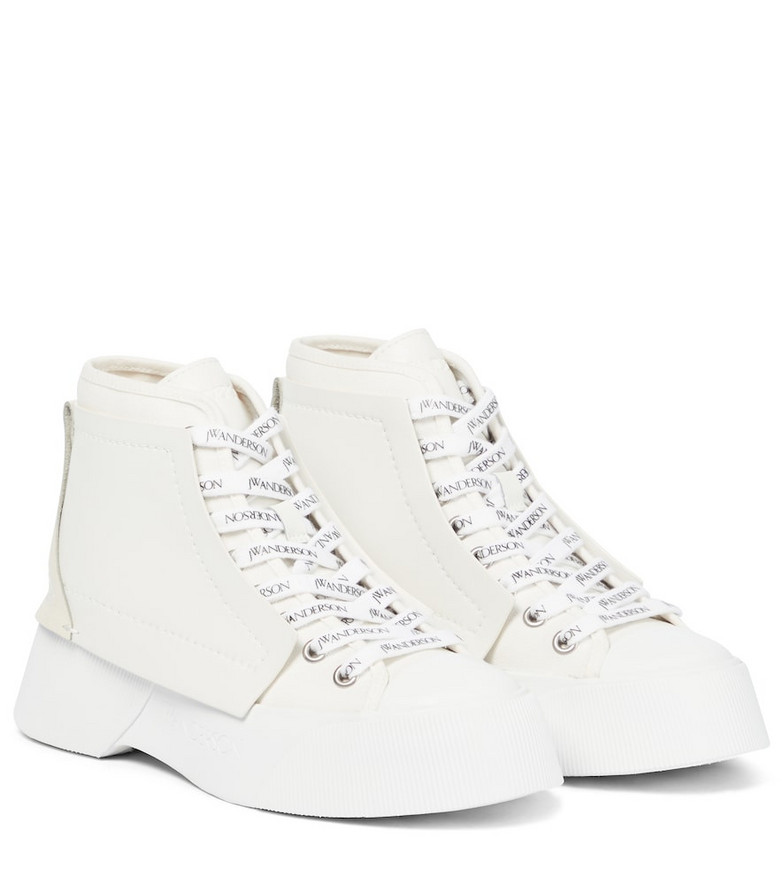 JW Anderson Trainer high-top sneakers in white