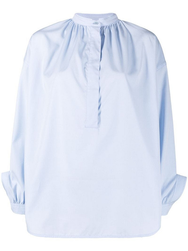 Christian Wijnants Tanny tie cuff shirt in blue