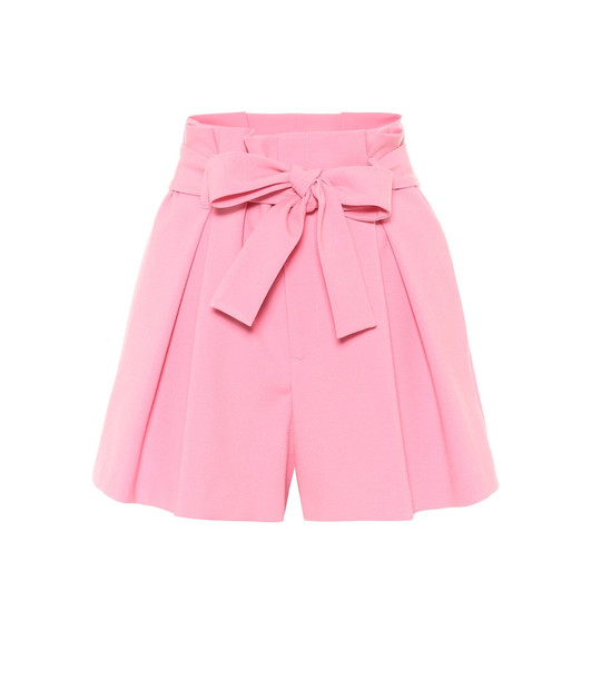 REDValentino Paperbag shorts in pink